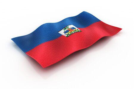 haiti: flag of Haiti Stock Photo