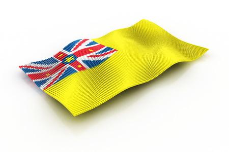 niue: the flag of Niue