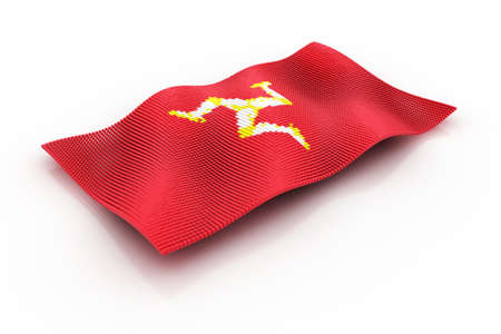 british isles: flag of the Isle of man Stock Photo