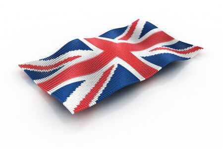 consists: the UK flag consists of cubes