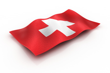 the flag of Switzerland consists of cubes