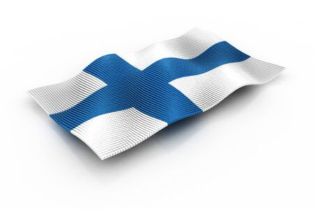 finland: flag of Finland consisting of cubes Stock Photo