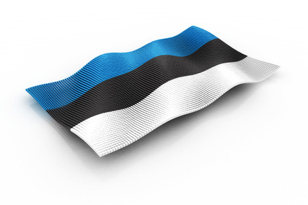 estonia: Estonia flag consisting of cubes