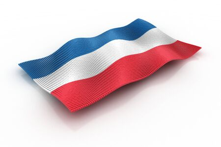 former yugoslavia: flag of Yugoslavia consisting of cubes