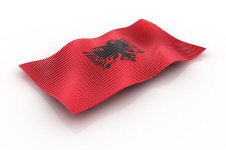 albania: Albania flag consisting of cubes