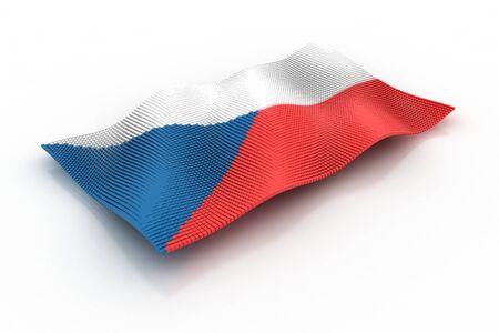 czech republic flag: Czech Republic flag made from blocks