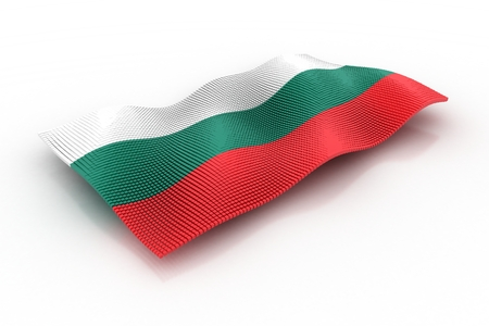 bulgarian: Bulgarian flag consisting of cubes