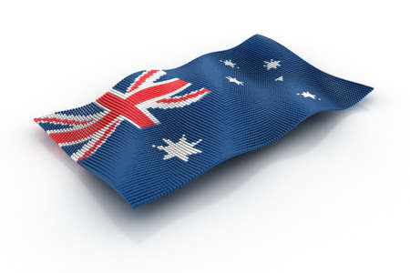consists: the Australian flag consists of cubes Stock Photo