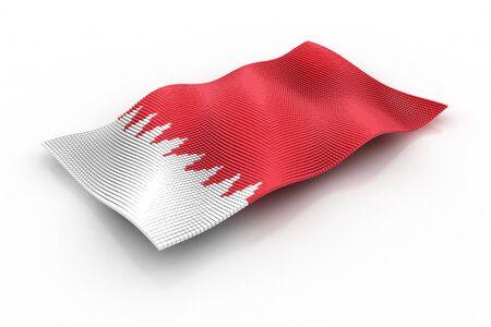 bahrain: flag of Bahrain consists of cubes