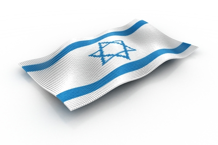 israeli: Israeli flag consisting of cubes Stock Photo