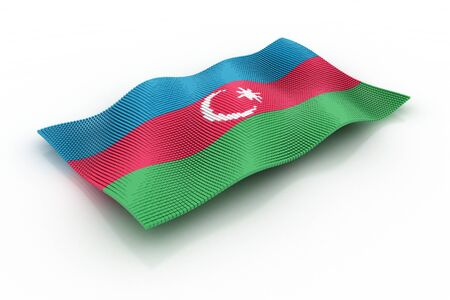 consists: the flag of Azerbaijan consists of cubes