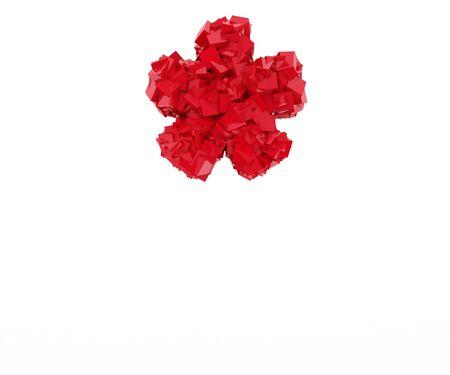 multiplicar: la señal se multiplican se compone de cubos de color rojo Foto de archivo