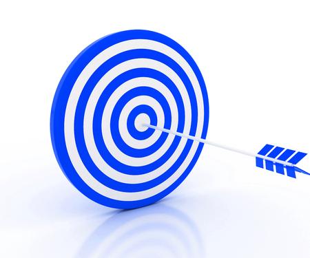 blue arrow: the blue arrow in the target
