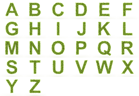 The alphabet of tennis balls.