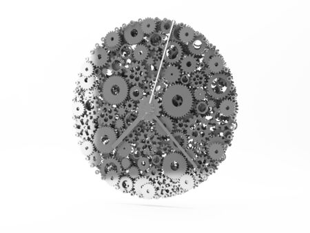 Watch of gears. 3D. Stock Photo