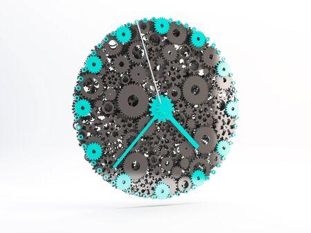 watch gears: Watch of gears. 3D. Stock Photo