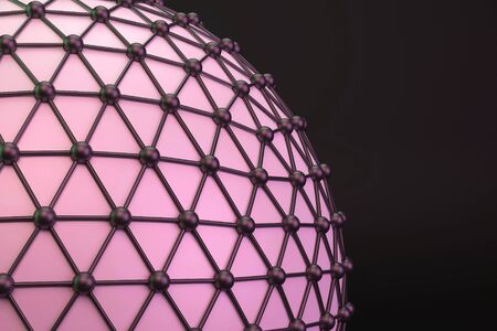 lattice: Lattice sphere. 3D. Stock Photo