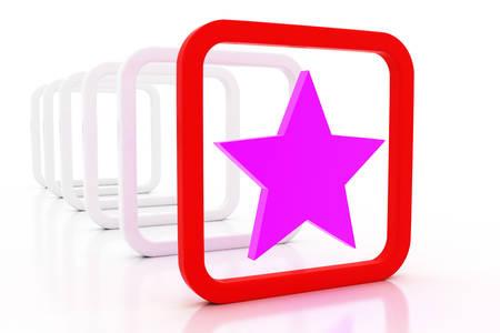 3d star: 3D star sign