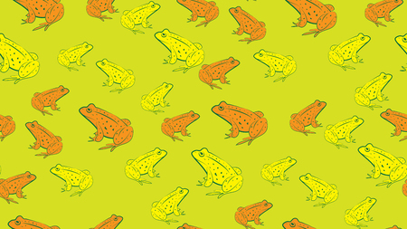 randomly: Vector seamless background of frogs. Randomly placed the frog Illustration