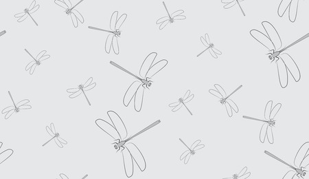 dragonflies: Vector seamless background of dragonflies. Chaotic dragonflies