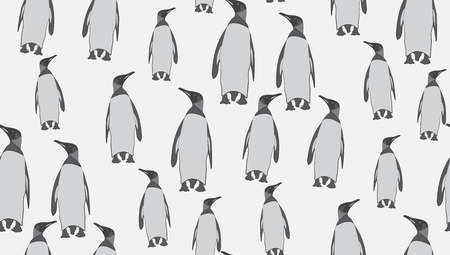 arctic penguin: Vector seamless background of penguins. The pattern of the penguins is perfectly located for printing. Illustration