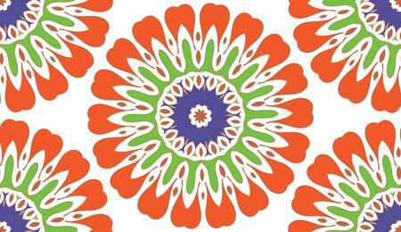 Ethnic seamless patterns. Aztec geometric backgrounds. Stylish navajo fabric. Modern abstract wallpaper. Vector illustration.