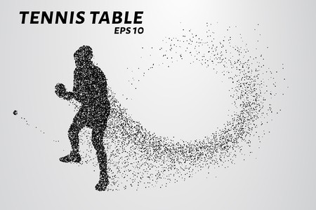 ball point: Table tennis from the particles. Illustration