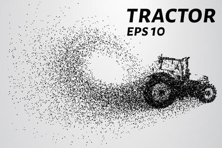 Tracteur des particules. Le tracteur se compose de petits cercles.