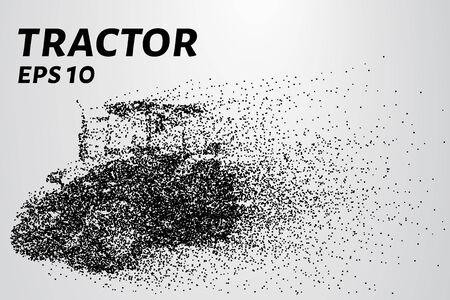 agronomics: Agricultural tractor of the particles. EPS 10