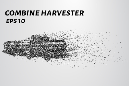 harvester: Harvester of particles. The harvester consists of small circles. Combine into smaller molecules. Illustration