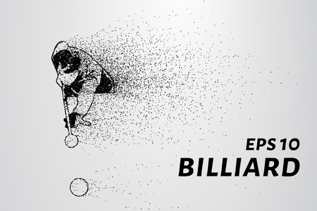 billiard: The billiard particle. Billiard aim to strike. Billiards silhouette consists of circles and points.