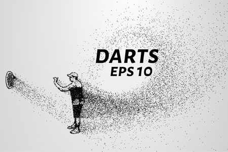 smaller: Darts of particles. Darts of dots and circles. Darts breaks down into smaller molecules.