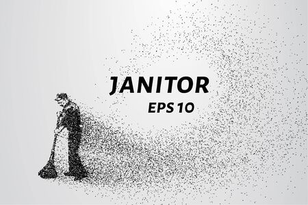 janitor: The janitor of the particles. The cleaner consists of small circles and dots.
