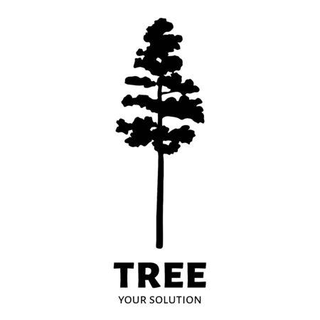 tree: Tree logo vector. Brands logo in the form of a tree Illustration