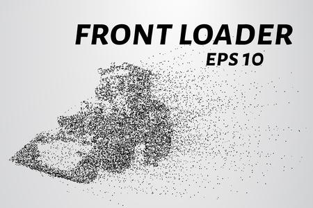 cargador frontal: cargador frontal de las partículas. cargador frontal se compone de círculos y puntos. Ilustración del vector.