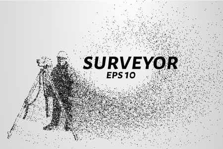 Surveyor of the particles. Surveyor consists of dots and circles. Vector illustration. Ilustracje wektorowe