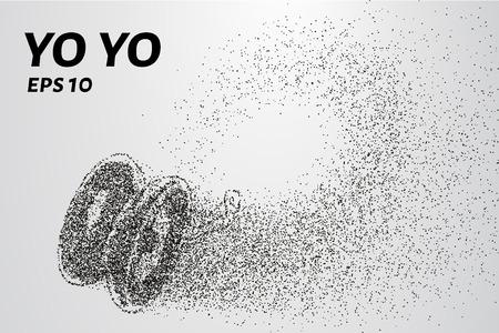Yo yo of the particles. Yo yo consists of small circles and dots. Vector illustration
