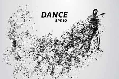 quickness: Dance of the particles. The girl warming up before dancing