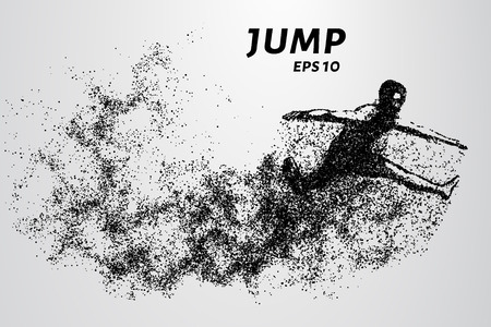 strive: Jump from the particles. Jumper consists of small circles