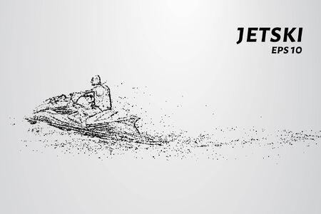 jetski: Jetski of particles. The waves rushing jetski