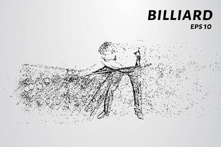 The billiard particle. Man playing Billiards. Vector illustration. Illustration