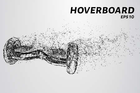 The hover board from the particles. The hover board consists of circles and points.