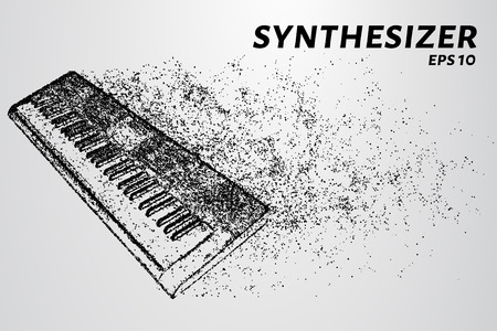 The synthesizer of the particles. The synthesizer consists of circles and points. Vector illustration Illustration