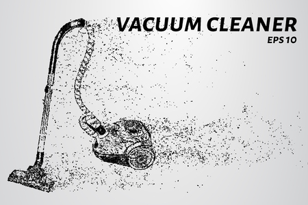 Cleaner from particles. The cleaner consists of circles and points.