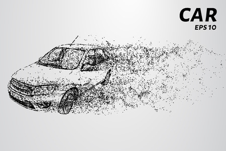 The car of the particles. The crossover consists of circles and points.