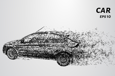Car by wind tears off the particles.