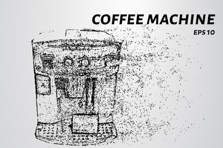 Coffee machine with wind breaks the particles.