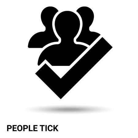 People tick isolated on a light background. Vector illustration Vector Illustratie