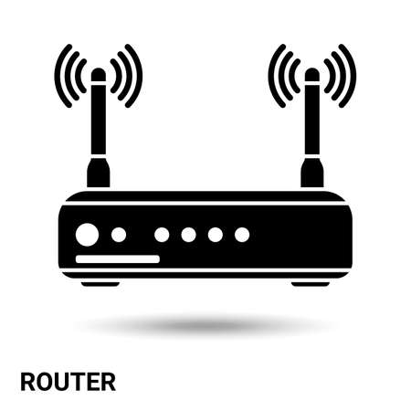 The router   isolated on a light background. Vector illustration