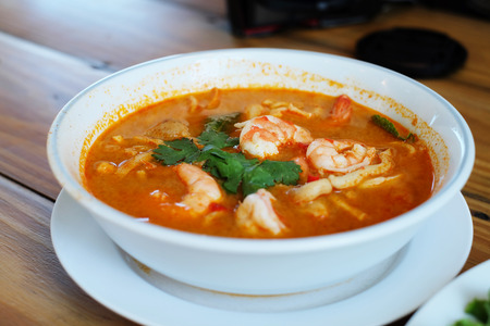 goong: Tom Yum Goong Kung Thai food Stock Photo